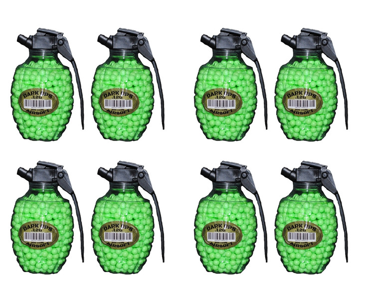 6400 BBS - 8x800 AIRSOFT BBs GRENADE BOTTLES - 6mm .12g Pistol Gun Rifle AMMO