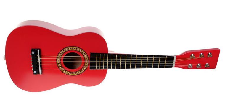 "Mini Kids 23"" Acoustic Toy Guitar Kit Gig Bag + Picks + Strap + Tuner - Candy Apple Red"