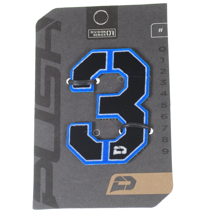 PUSH Paintball Backpack Gear Bag Numbers - Blue - #3