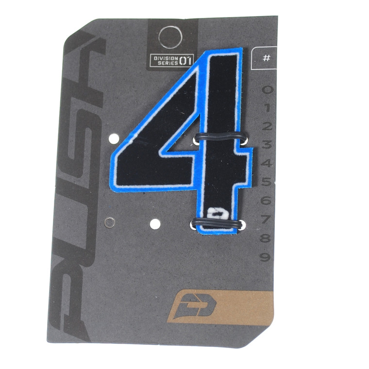PUSH Paintball Backpack Gear Bag Numbers - Blue - #4