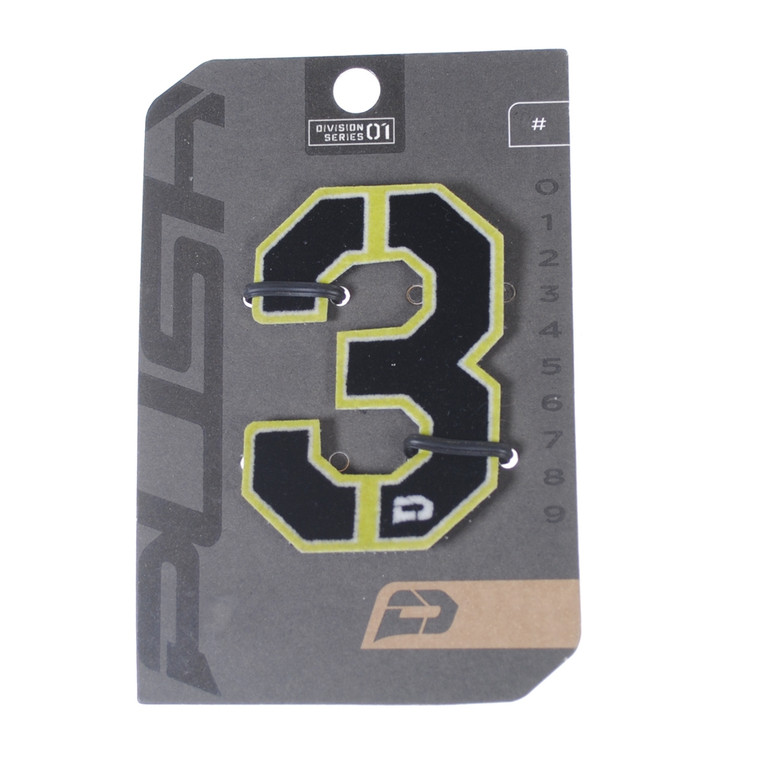 PUSH Paintball Backpack Gear Bag Numbers - Lime - #3