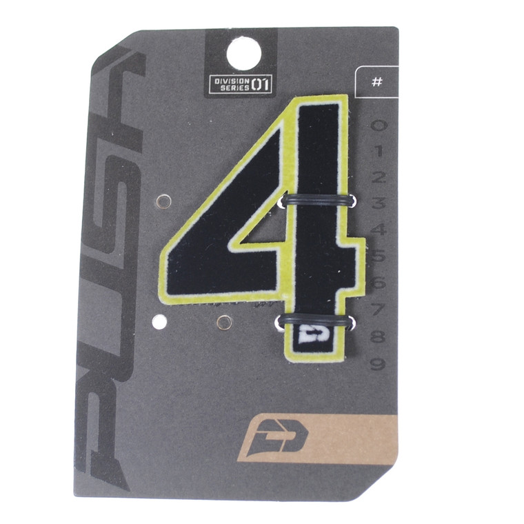 PUSH Paintball Backpack Gear Bag Numbers - Lime - #4
