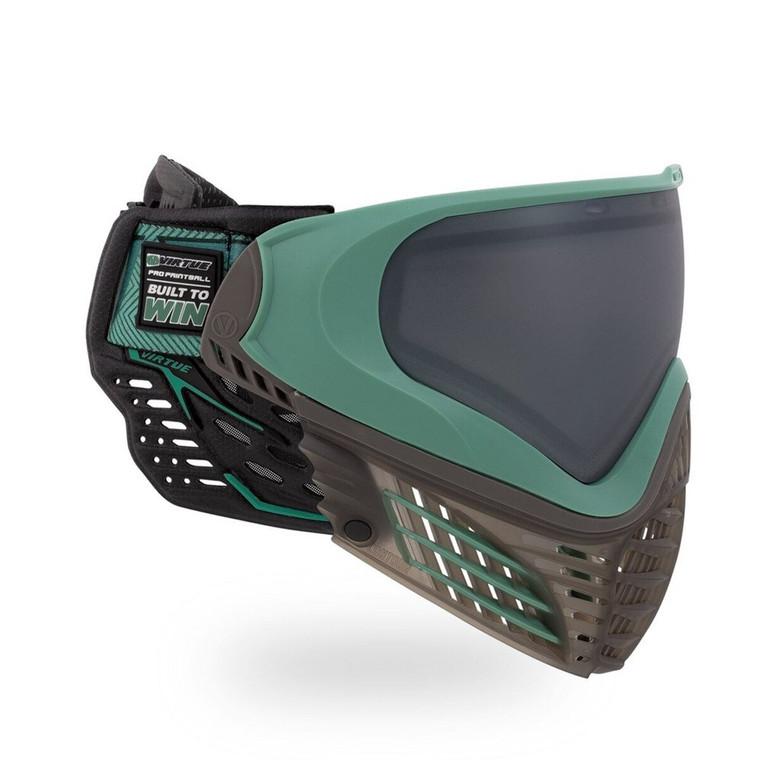 Virtue VIO Contour II Thermal Paintball Goggles Mask with Dual Pane Lens - Dark Slate Green