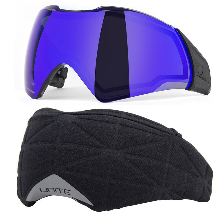 PUSH Unite Paintball Goggle / Mask Thermal CHROME PURPLE Lens with Cover