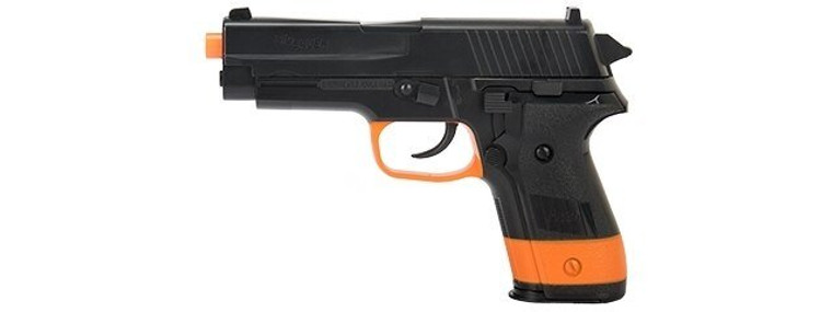 UKARMS Sig Sauer P228 Spring Airsoft Pistol (BLACK / ORANGE))