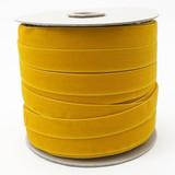 Wholesale Gold Velvet Ribbon Spool Such Good Supply-  Gold Swiss Velvet Ribbon by the spool
