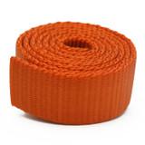 orange heavy duty nylon webbing by the yard