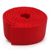 heavy duty red nylon webbing by the yard