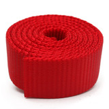 red nylon webbing by the yard