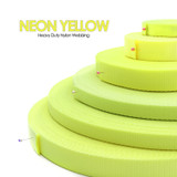 neon yellow nylon webbing by the yard