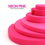 neon pink nylon webbing by the yard