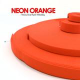 neon orange nylon webbing by the yard