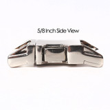 5/8 inch all metal zinc diecast side release buckle