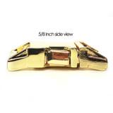 5/8 inch brass zinc die cast side release dog collar buckle side view
