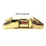 5/8 inch brass zinc die cast side release dog collar buckle side view
