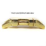 brass zinc die cast side release buckle side view 1 one inch