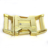 brass all metal side release buckle back view