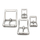 stainless steel center bar buckle 1 inch silver buckle small steel buckle, large stainless buckle
