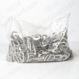shiny silver zinc die cast 1 inch snap hook full bag
