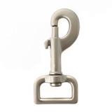 satin 1 inch leash clip matte grey snap hook 1 inch satin swivel snap