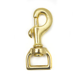 3/4 inch snap hook one inch solid brass leash clip gold swivel snap