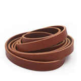5/8 inch chestnut brown leather strip