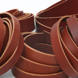 brown leather straps strips for sale