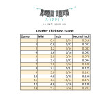 leather thickness chart inches and mm