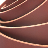 1.5 inch chestnut brown leather straps