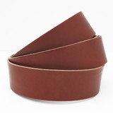 2 inch chestnut brown leather strip