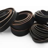 USA black leather straps