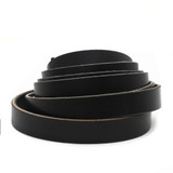 3/4 inch black leather strip