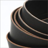 black leather strips detail 1.5 inch USA leather strip