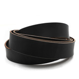 1.5 inch black leather strip