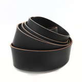 2 inch black leather strip