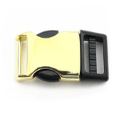 1 Inch Brass Metal & Plastic Hybrid Side Release Buckle