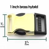 1 inch brass hybrid side release dog collar buckle
