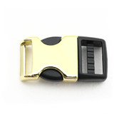 3/4 Inch brass metal and plastic hybrid side release buckle
