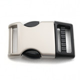 1 inch satin matte  hybrid side release metal and plastic buckle