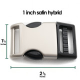 1 one inch satin side release buckle