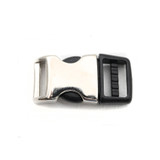5/8 Inch shiny metal and plastic side release buckle