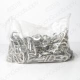 shiny zinc die cast 3/4 inch snap hook full bag