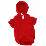 Red Dog Hoodie - Red Pet Sweatshirt Front