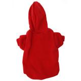 Red Pet Sweatshirt Back - Red Dog Hoodie