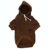 Brown Dog Hoodie - Black Pet Sweatshirt Front
