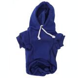 Blue Dog Hoodie - Navy Blue Pet Sweatshirt Front