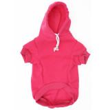 Bright Pink Dog Hoodie - Raspberry Pink Pet Sweatshirt Front