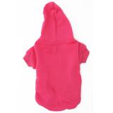 Dark Pink pet sweatshirt back - Magenta dog hoodie