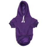 Purple Dog Hoodie - Purple Pet Sweatshirt Front