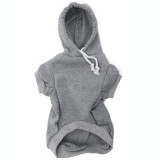 Grey Dog Hoodie - Gray Pet Sweatshirt Front